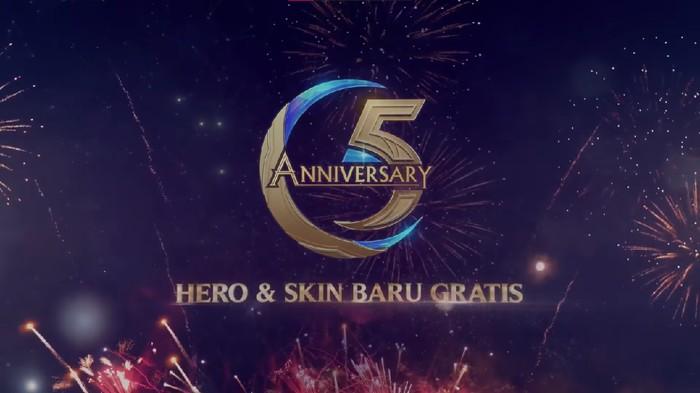 Mobile Legends Membagikan Skin Gratis Menyambut Ulang Tahun ke-5